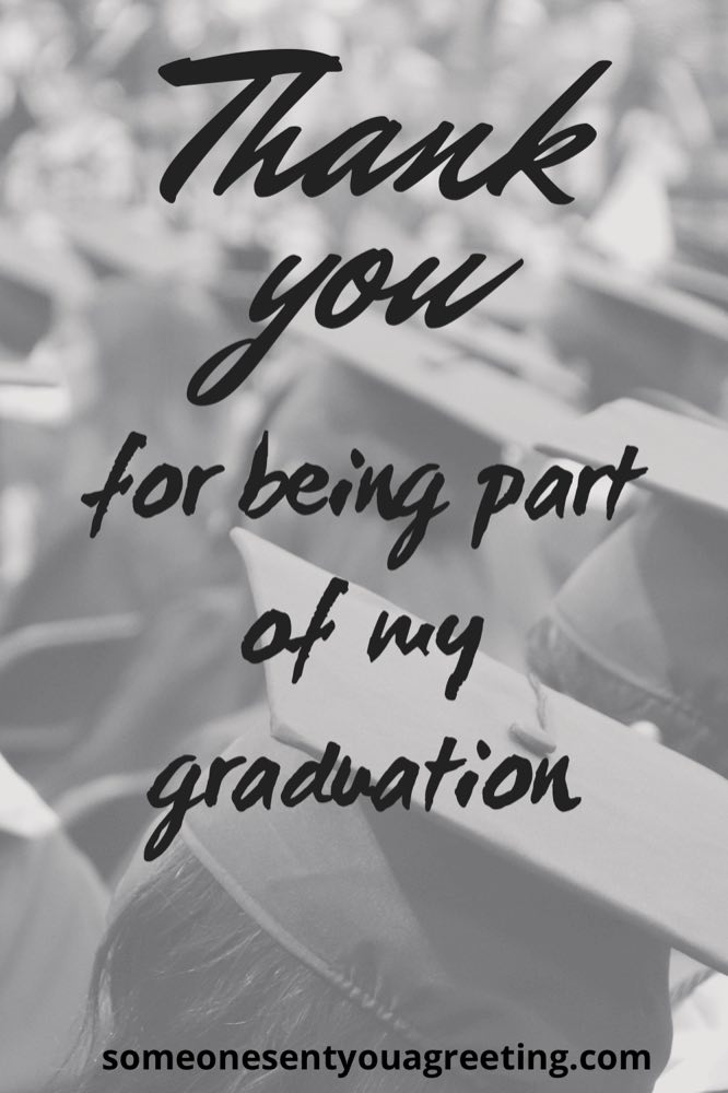 thank you for being part of my graduation