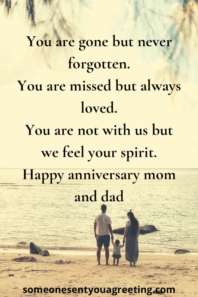 Anniversary wishes for late parents