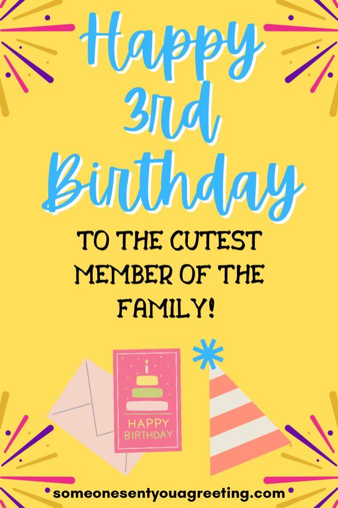 happy 3rd birthday wishes