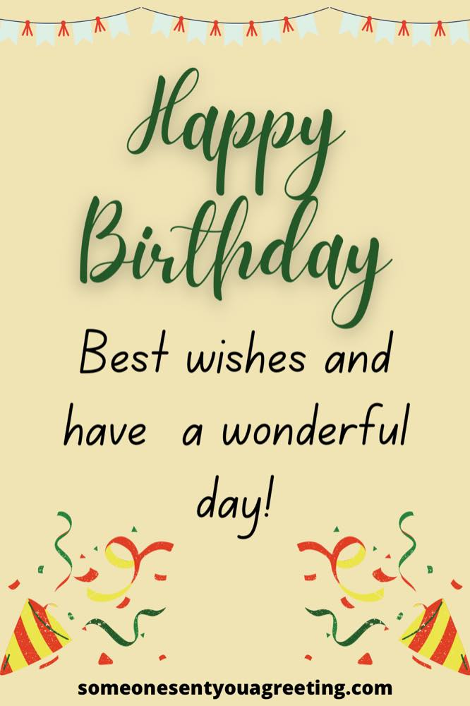 best wishes for your birthday