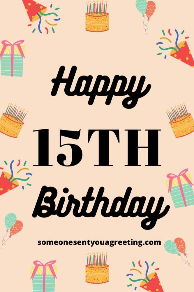 happy 15th birthday wishes