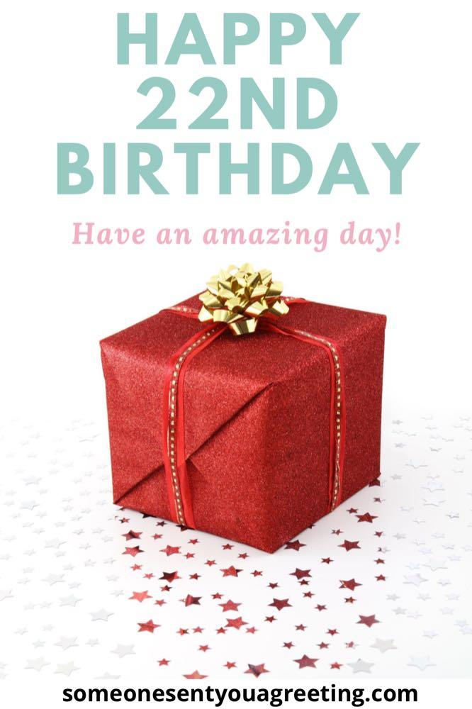 22nd birthday wishes message
