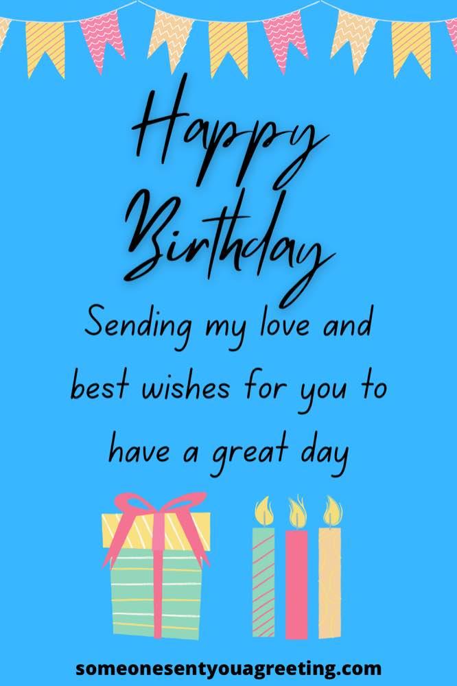 happy birthday sending my love
