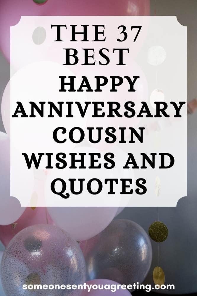 happy anniversary cousin