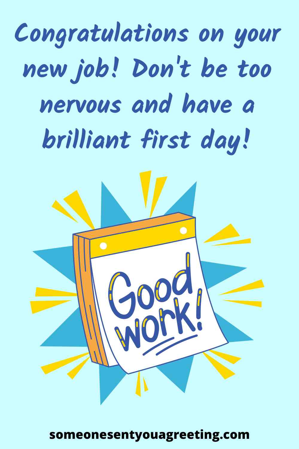 first day of work wishes for a new job