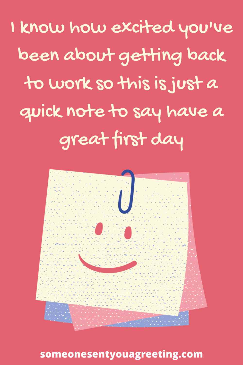 happy first day of work message