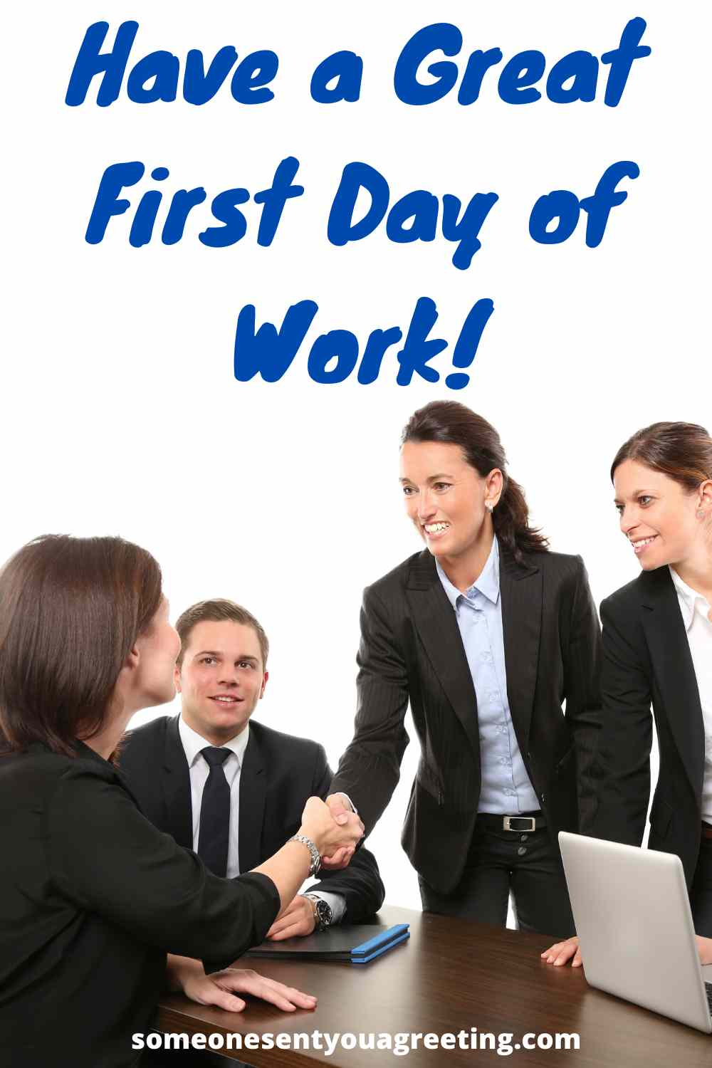 have a happy first day of work message