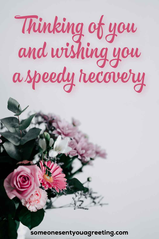 wishing you a speedy recovery