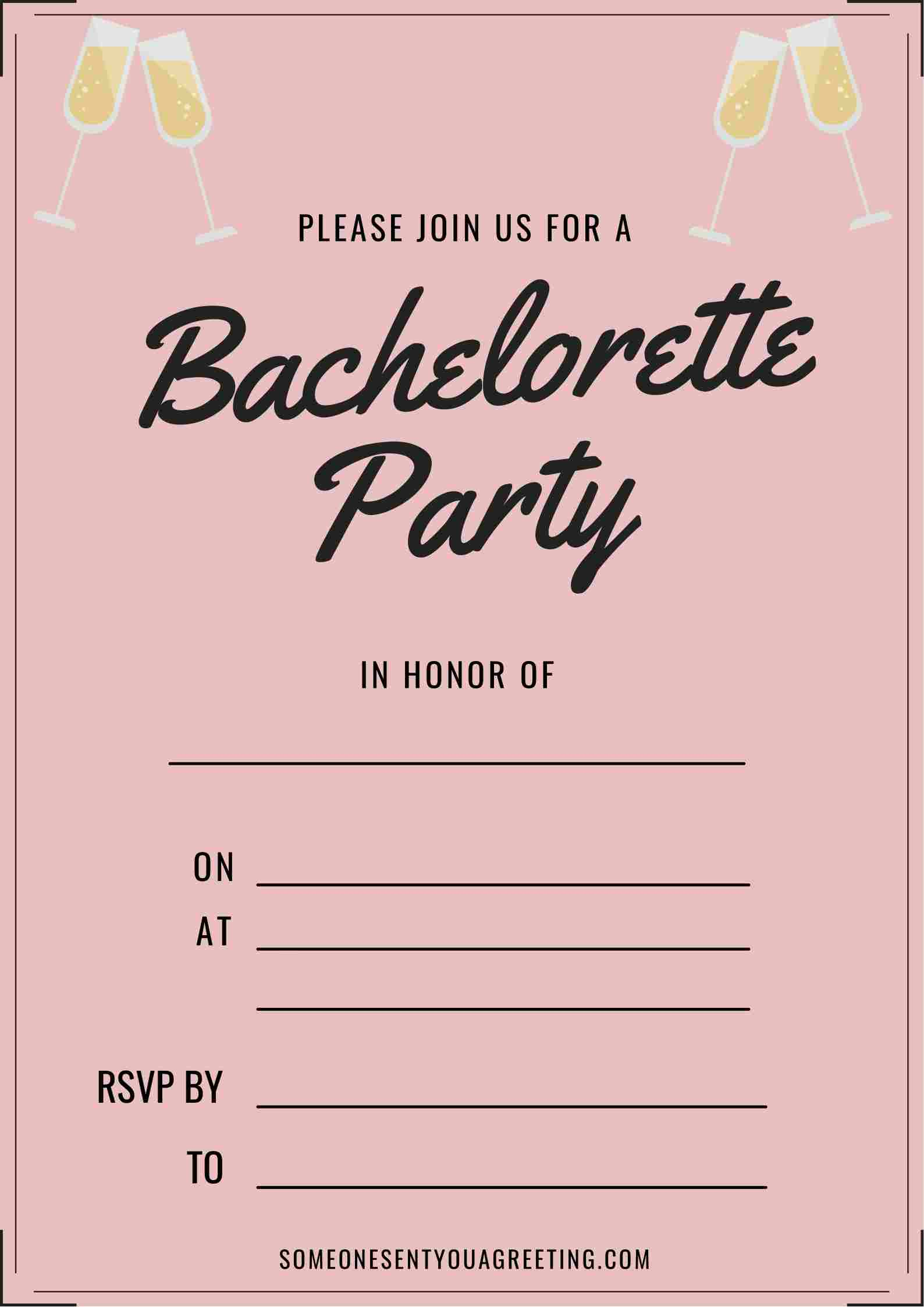 bachelorette party invitation wording example