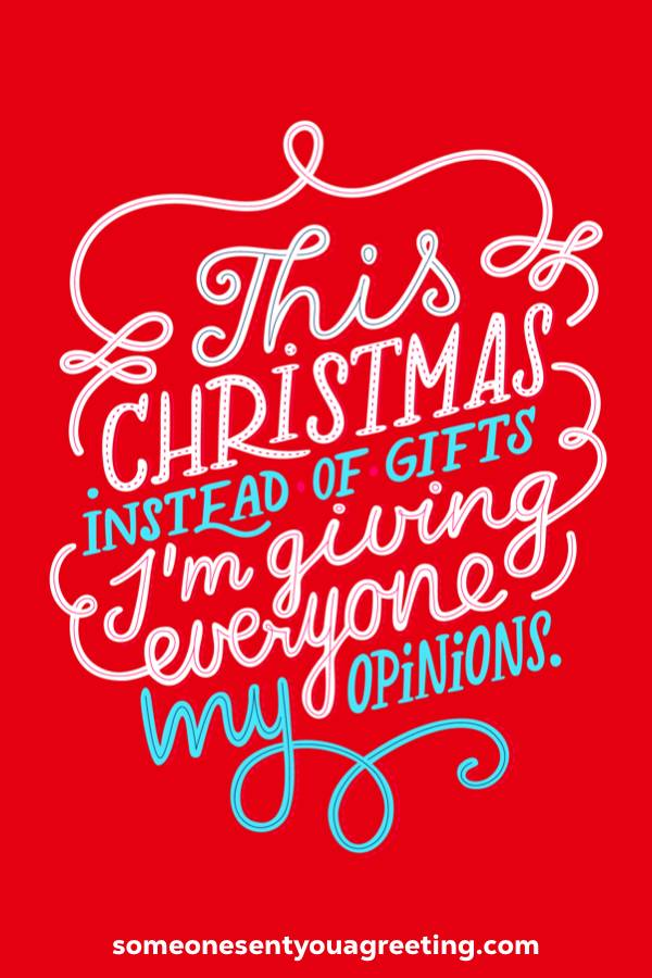 funny Christmas Facebook quote