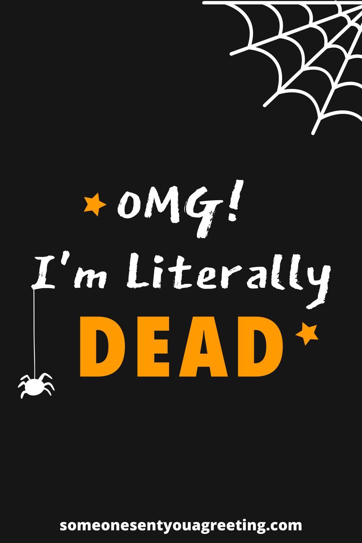funny Halloween saying