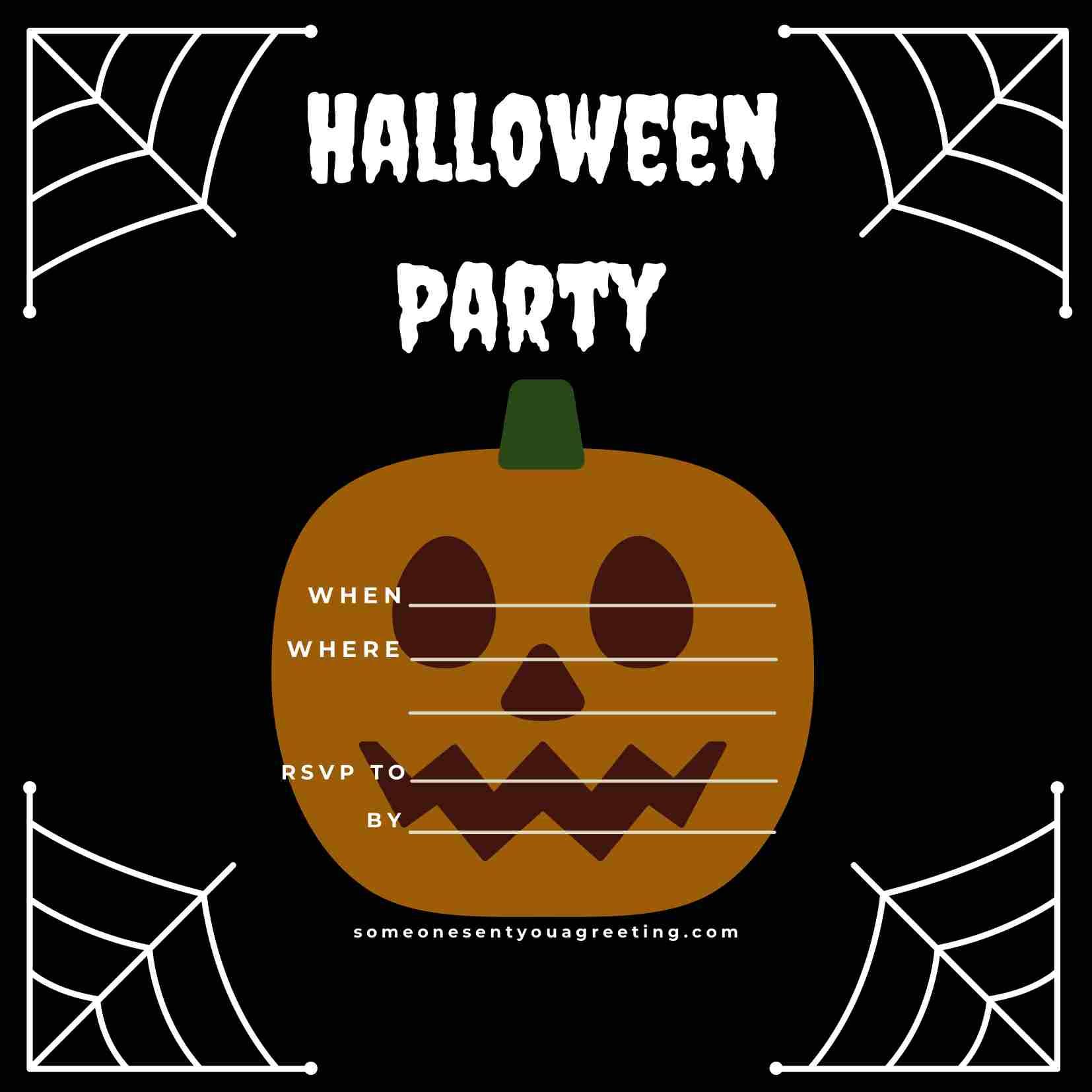 Halloween Party Invitation sample