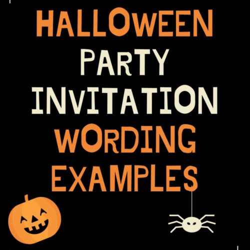 Halloween Party Invitation Wording Examples