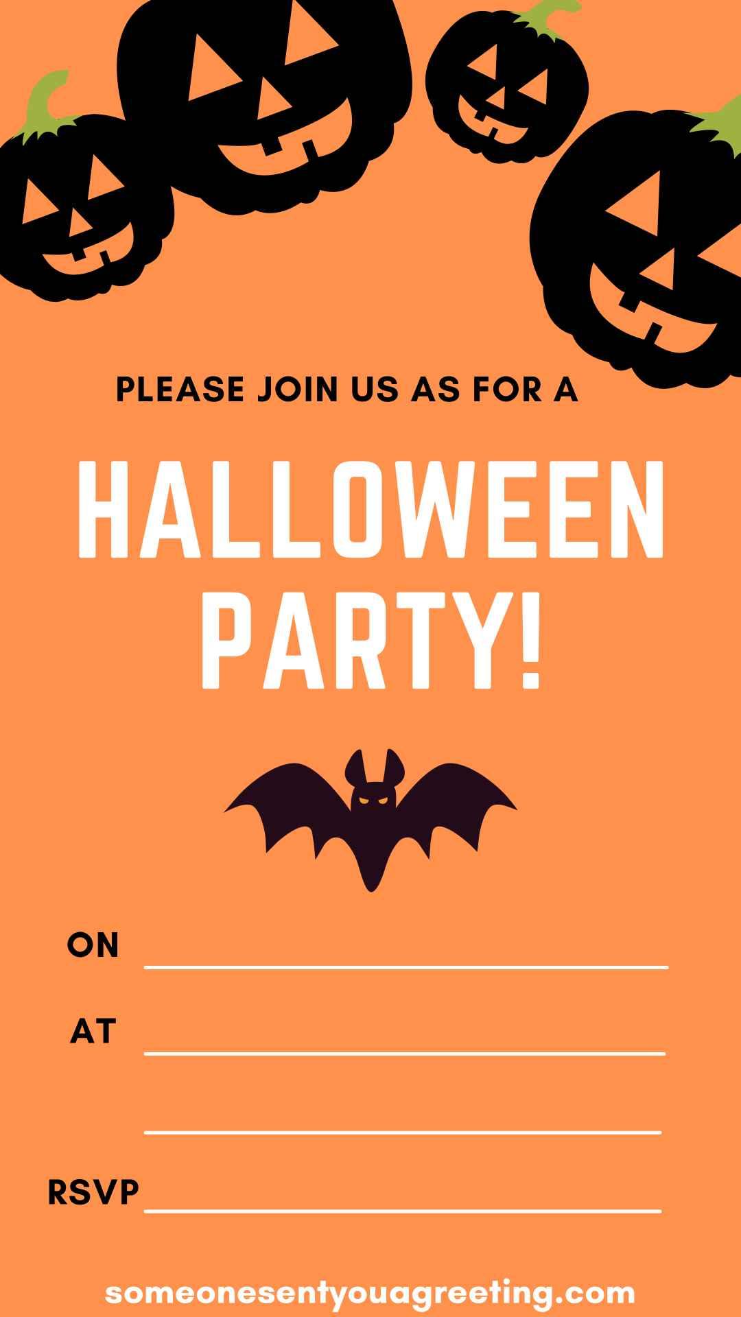 Halloween Party Invitation wording example