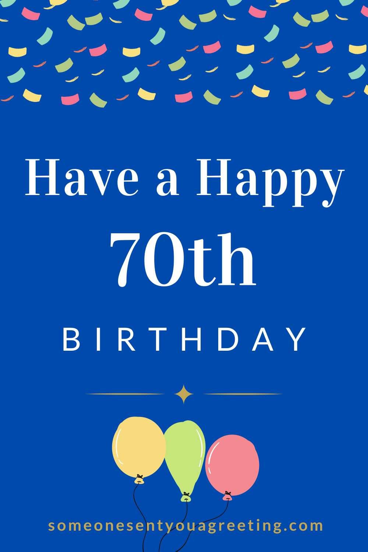 happy 70th birthday message