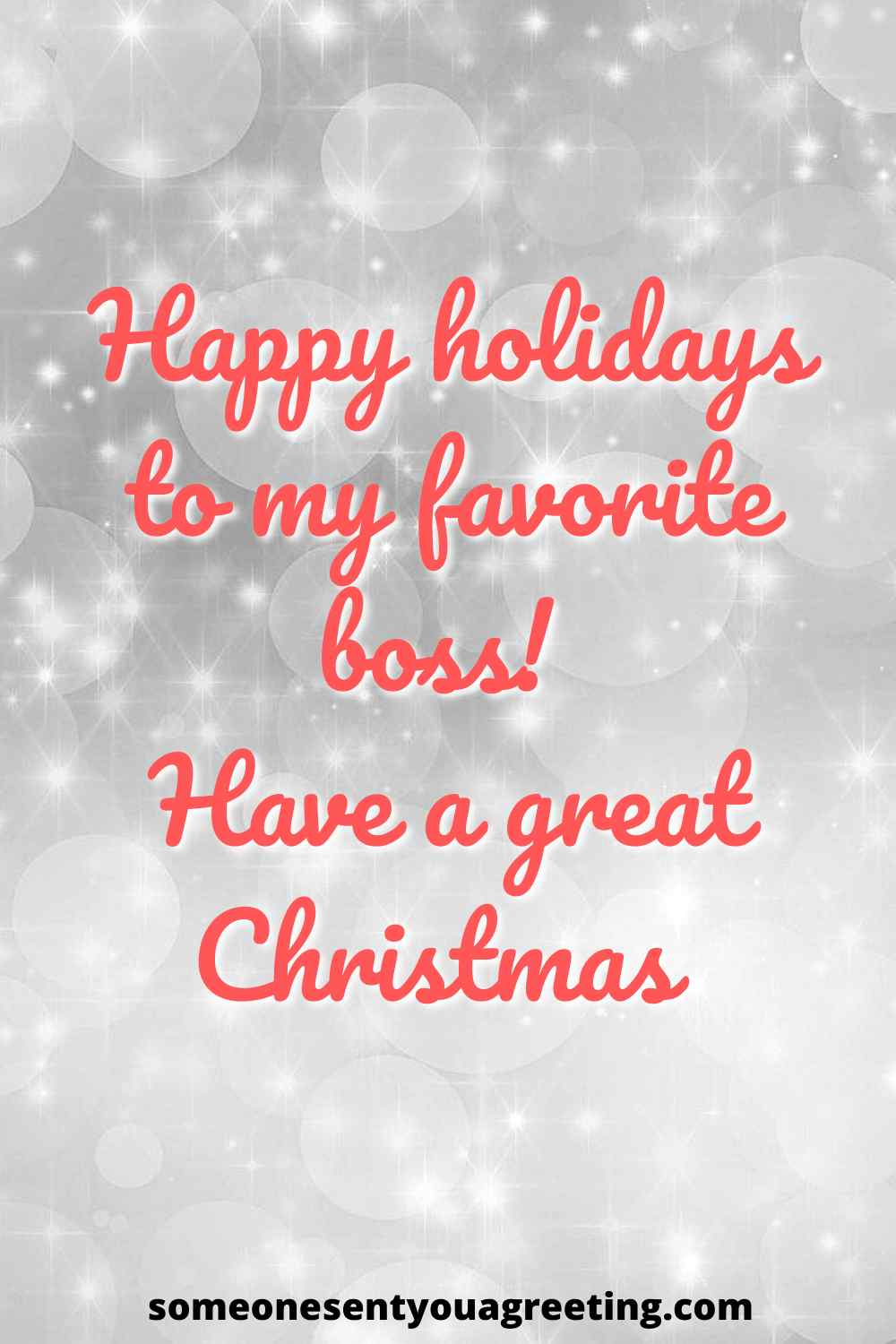 happy holidays message for boss
