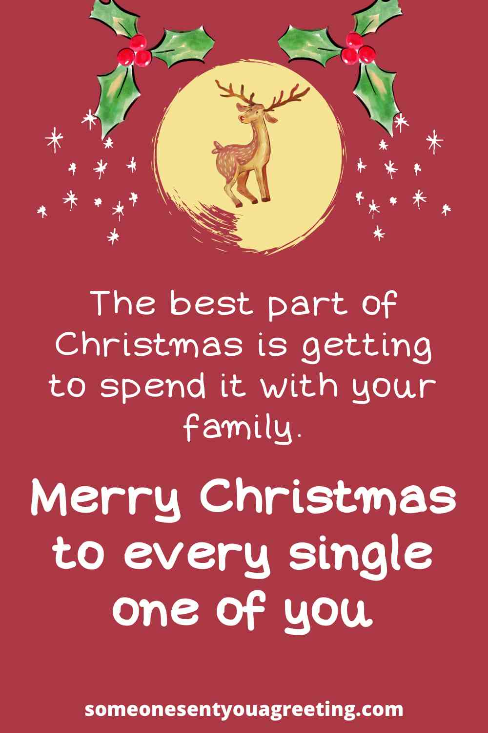 Christmas message to family