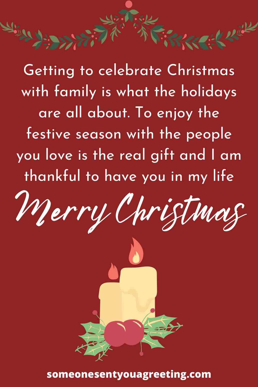 heartfelt Christmas wishes for family