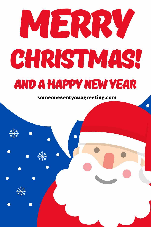 santa Merry Christmas to family