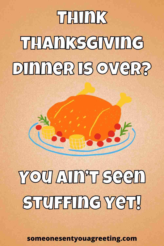 thanksgiving dinner pun