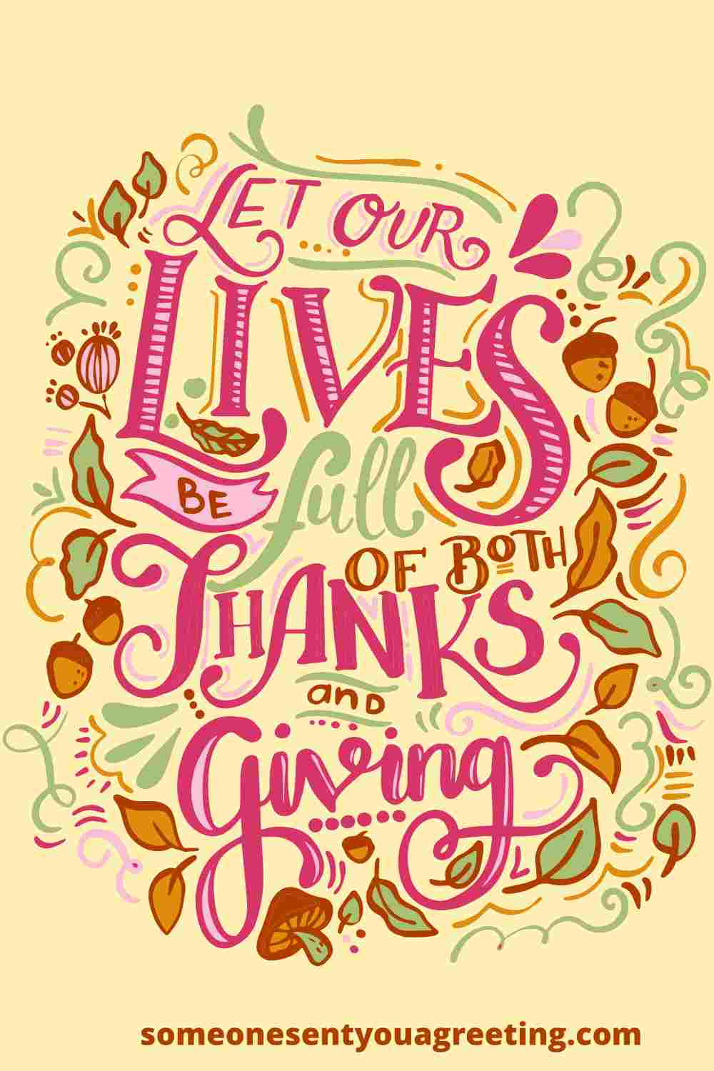 thanksgiving message for family