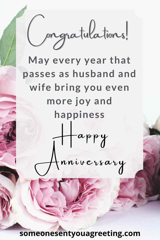 happy anniversary congratulations for a friend