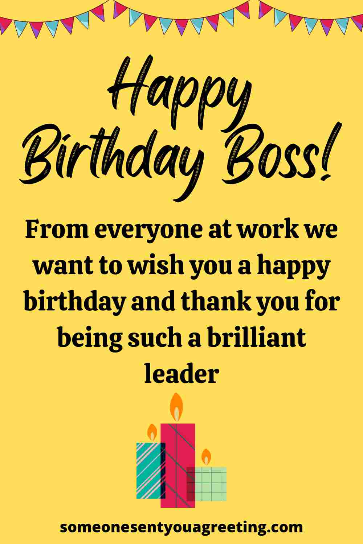 happy birthday wish for boss