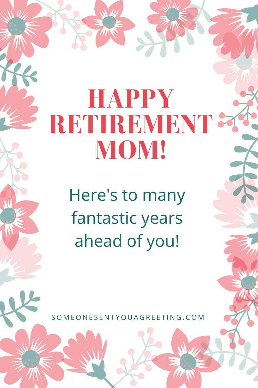 happy retirement mom wishes