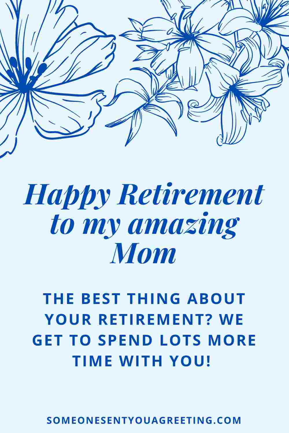 retirement message for mom