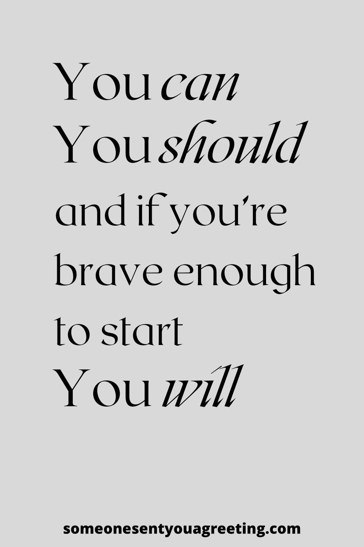 Stephen King brave inspiring quote