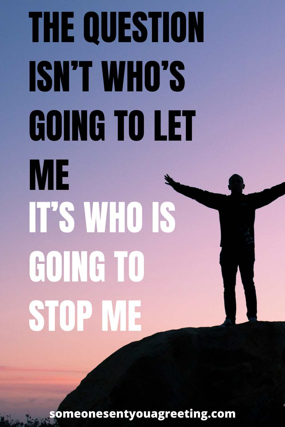 who is going to stop me empower quote